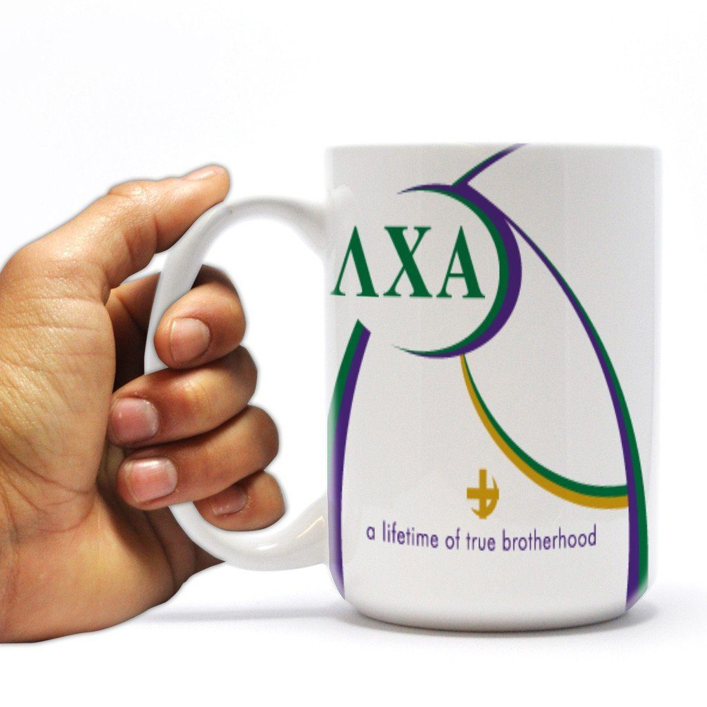 "Lambda Chi Alpha 15oz Coffee Mug "" Lifetime of True Brotherhood Design"