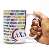 "Lambda Chi Alpha 15oz Coffee Mug "" Inspirational Word Designs"