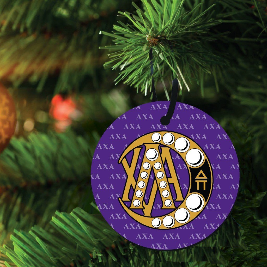 Lambda Chi Alpha Ornament - Set of 3 Circle Shapes - FREE SHIPPING
