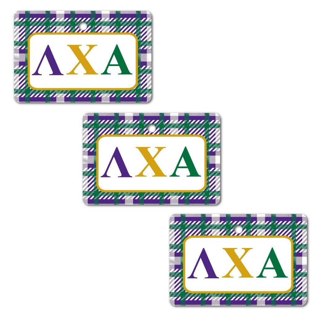 Lambda Chi Alpha Ornament - Set of 3 Rectangle Shapes - FREE SHIPPING