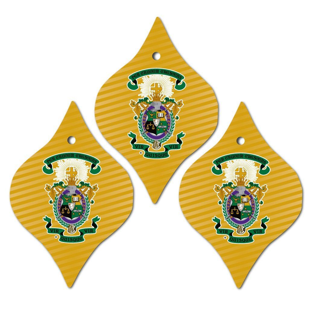 Lambda Chi Alpha Ornament - Set of 3 Tapered Shapes - FREE SHIPPING