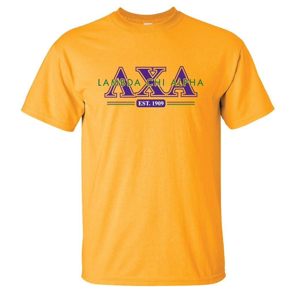 Lambda Chi Alpha Standard T-Shirt - Established 1909 - FREE SHIPPING