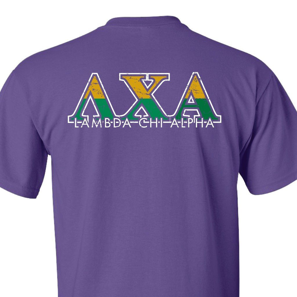 Lambda Chi Alpha Standard Purple T-Shirt - A Lifetime of True - FREE SHIPPING