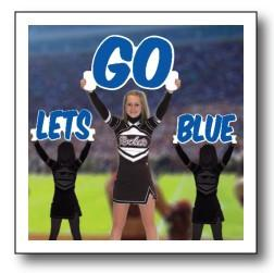 Let's Go Color Cheerleader Cut Out Words