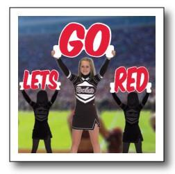 'Let's Go' Color Cheer Cut Out Words