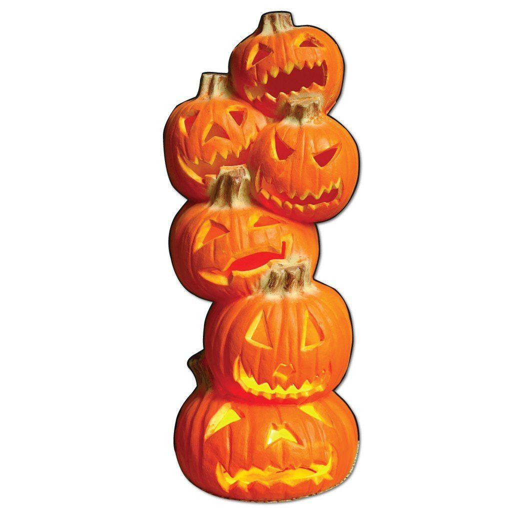 Life Size 6' Tall Stacked Jack-O'-Lanterns Halloween Lawn Decoration - FREE SHIPPING