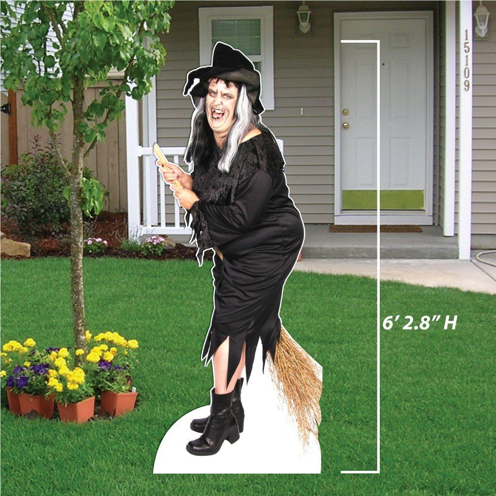 Life Size Witch Halloween Lawn Decoration w/ easel - FREE SHIPPING