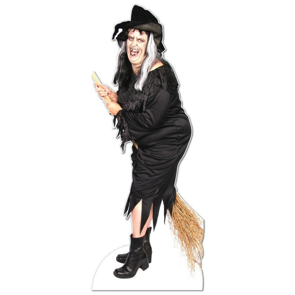 Life Size Witch Halloween Lawn Decoration w/ easel