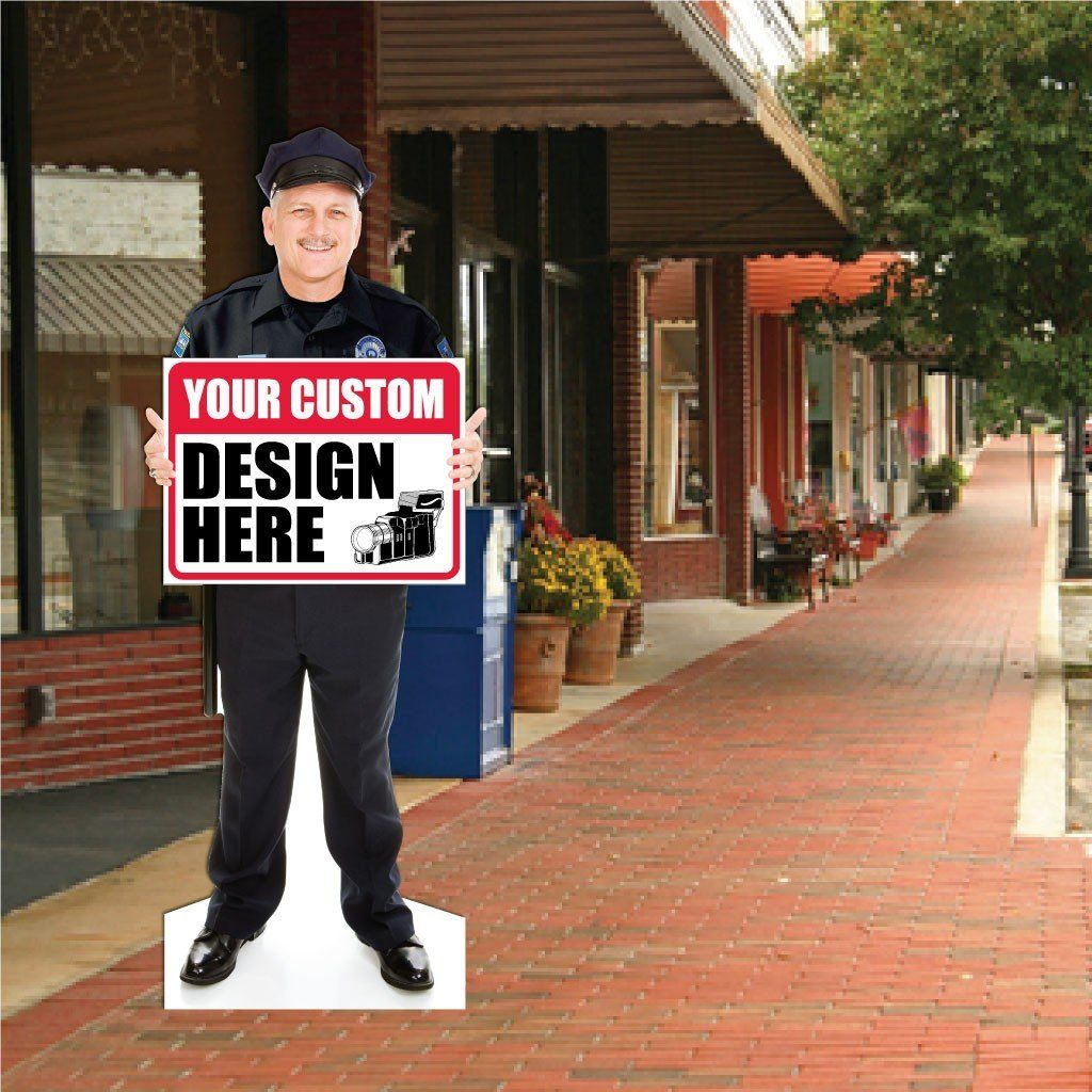 Police Officer Life Size Stand Up Cutout