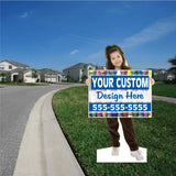 Young Girl Life Size Stand Up Cutout
