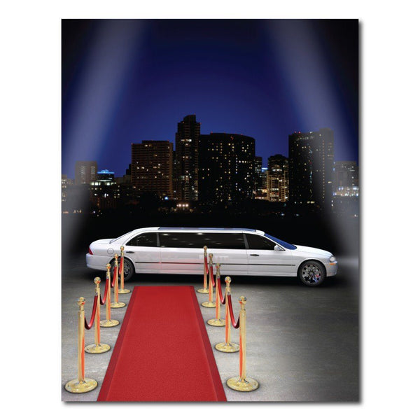 Red Carpet Limo Vinyl Photography Backdrop 8 X10 Or 8 X14