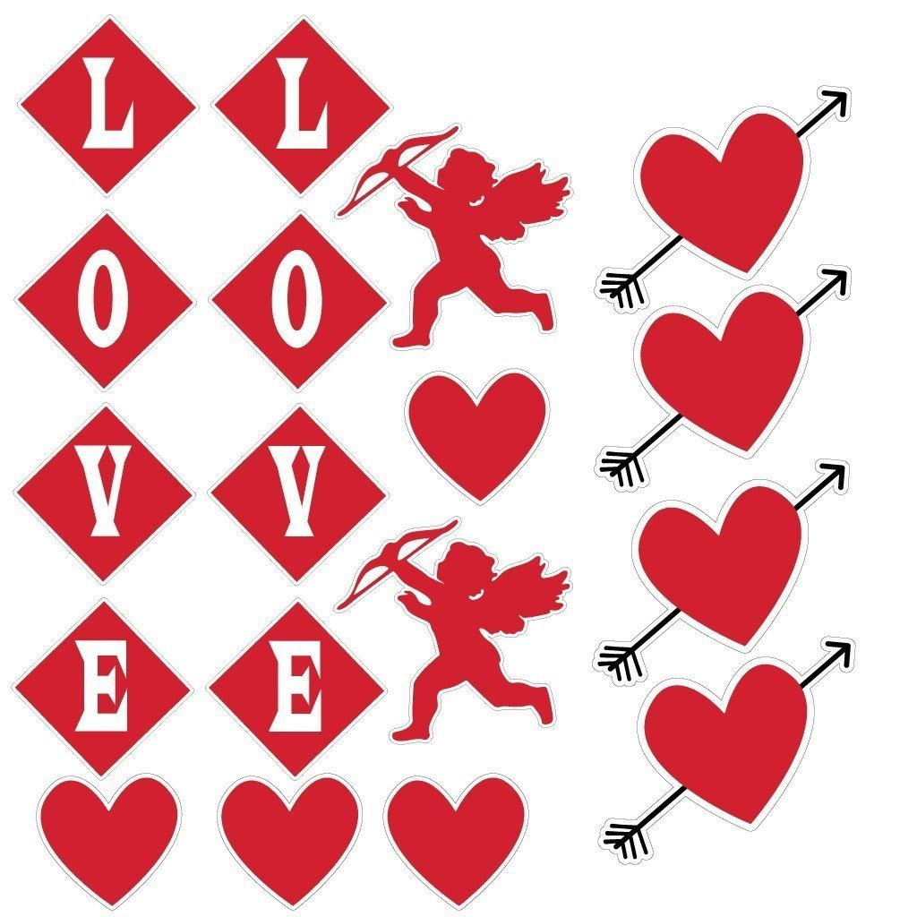 Valentine's Day Yard Decoration - Hanging Cupid, Hearts, and Love - FREE SHIPPING