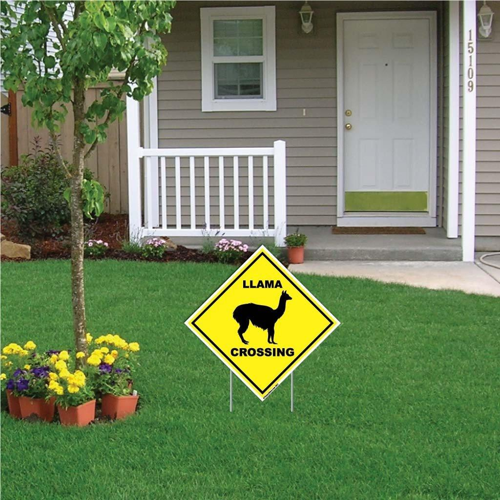 Llama Crossing Sign or Sticker