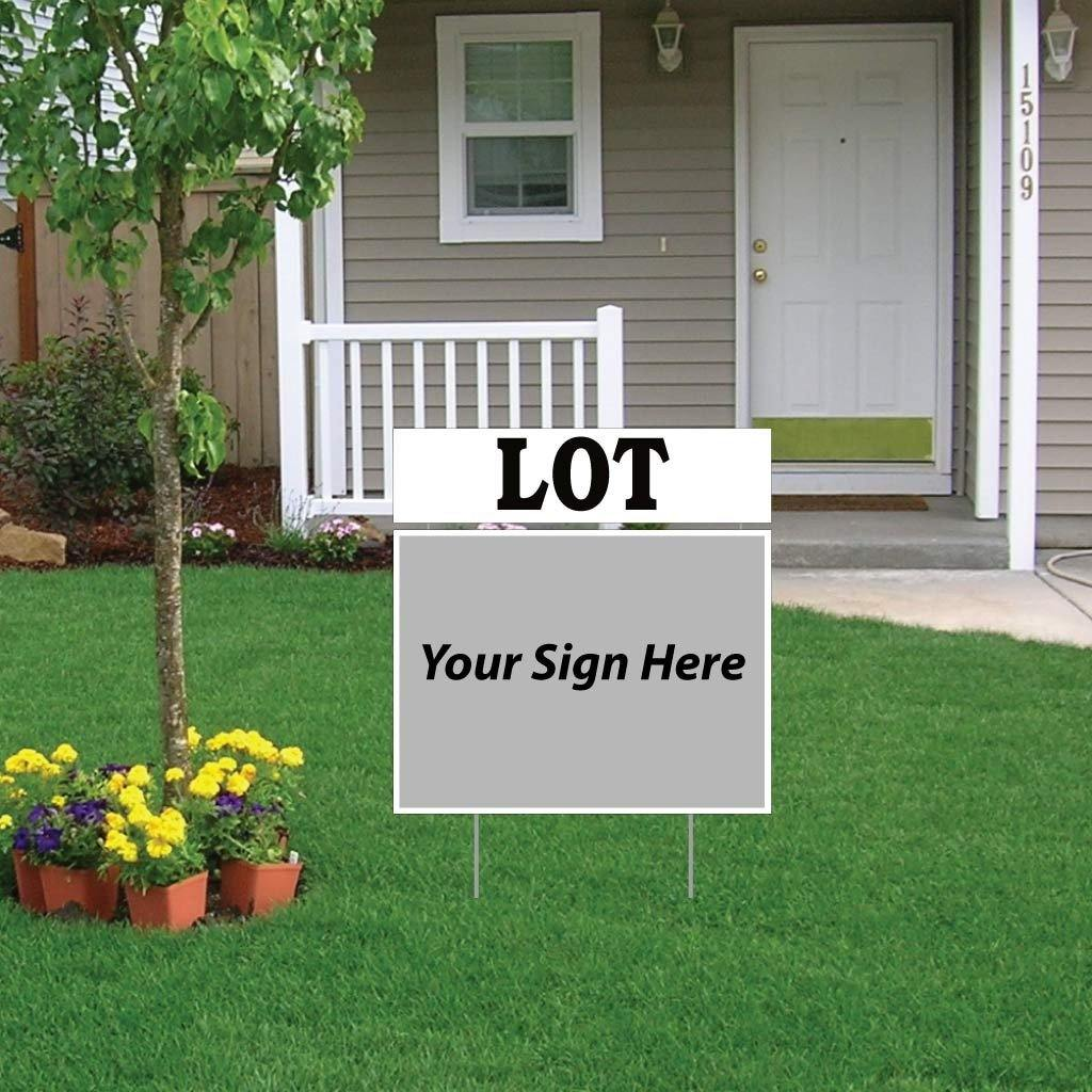 Lot Real Estate Yard Sign Rider Set - FREE SHIPPING