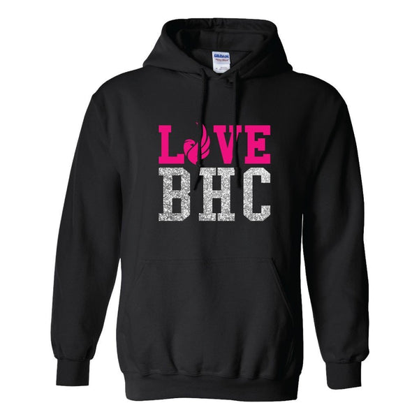 Love BHC Black Hooded Sweatshirt