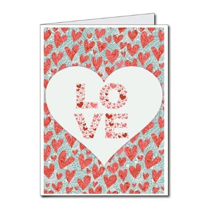 3' Stock Design Giant Valentine's Day Card - Love You Always w/Envelope