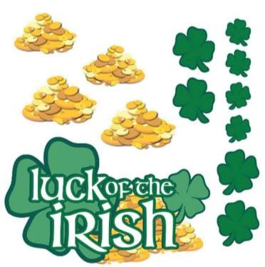 St. Patrick's Day - Yard Decoration - Luck o' the Irish (set of 13