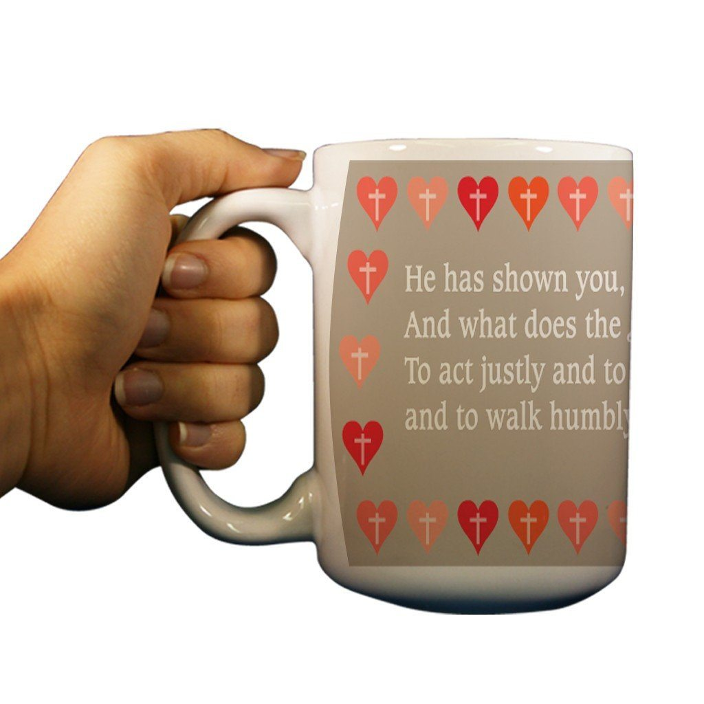 Micah 6:8 Religious 15oz Coffee Mug