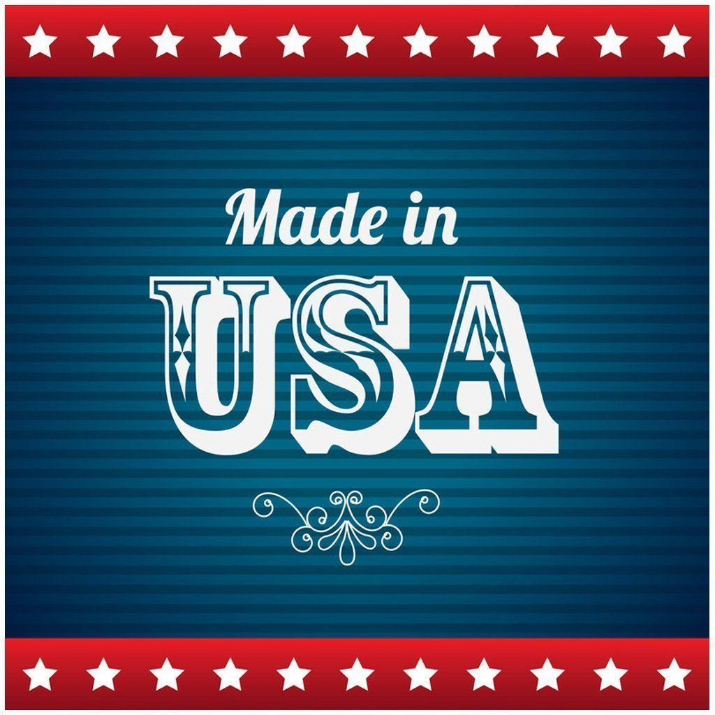 "A sign that says ""Made in the USA"""