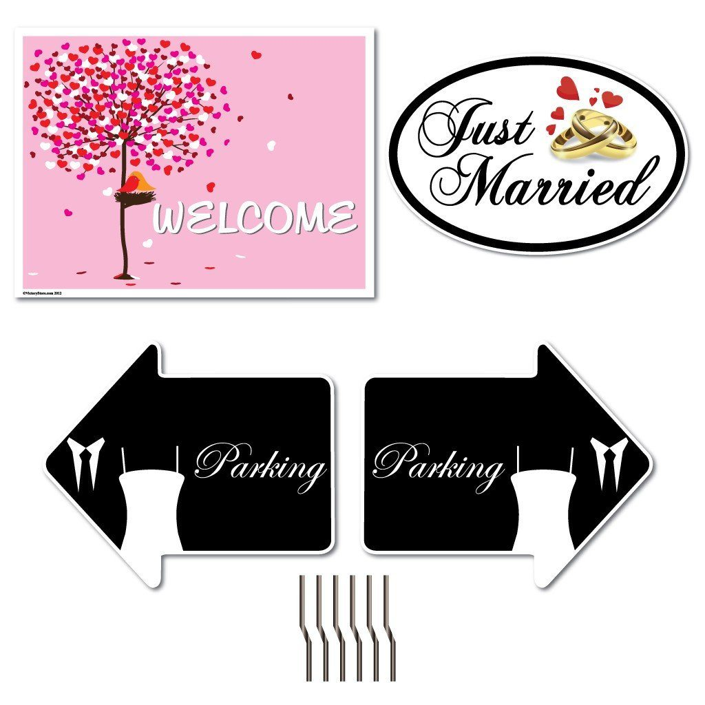 Wedding Yard Sign Set - Yard Signs & Car Magnets