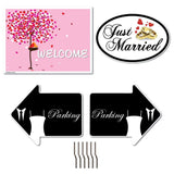 A 2D template of a wedding decoration pack