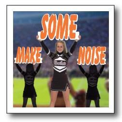 Make Some Noise Cheerleader Cut Out Words