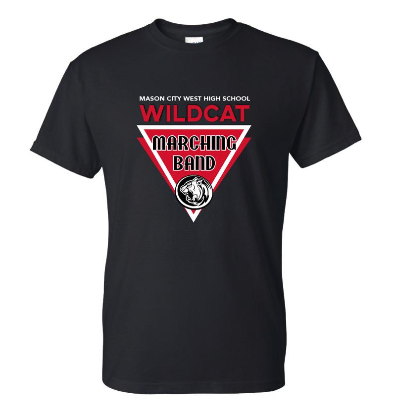 Marching Band T-shirt - Mascot Triangle Design