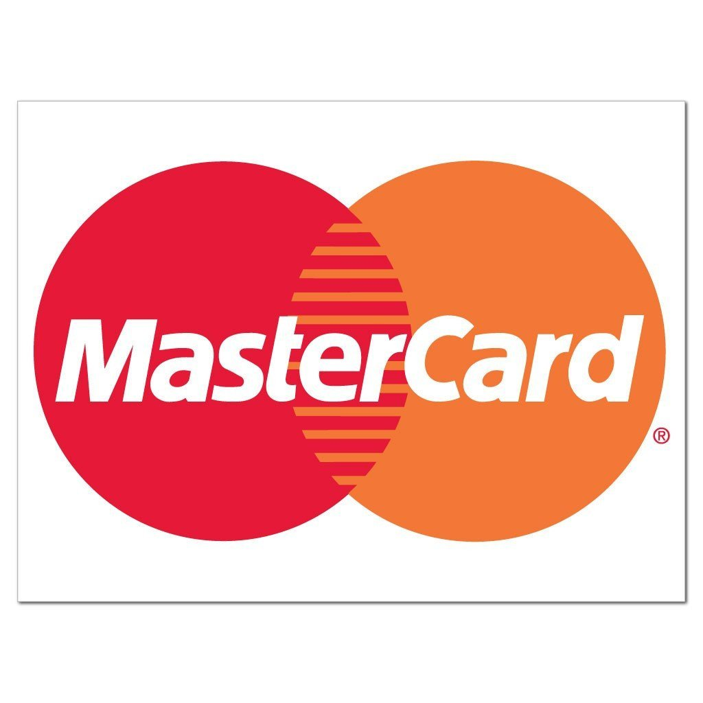 MasterCard Credit Card Sign or Sticker - #7