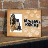 Mastiffs Rock Dog Picture Frame - Holds 4x6 picture