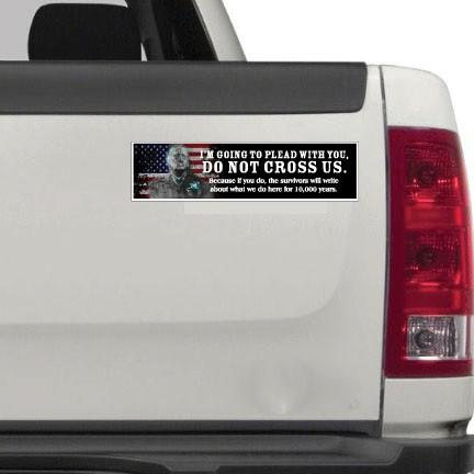"General Mad Dog Mattis 11.5""x3"" Bumper Sticker 2-Pack"