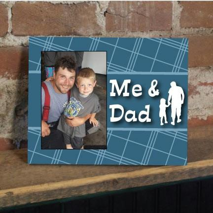 Me and Dad Plaid Picture Frame