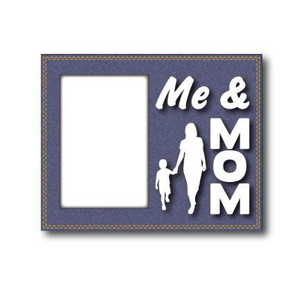 Me and Mom Denim Picture Frame