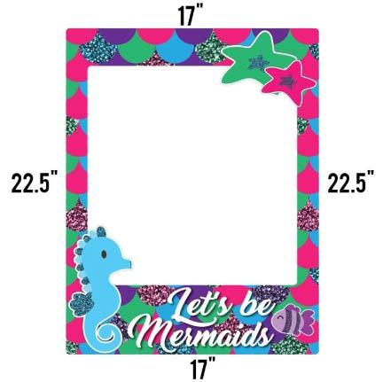 Glitter Mermaid Birthday Photo Booth Frame Prop FREE SHIPPING