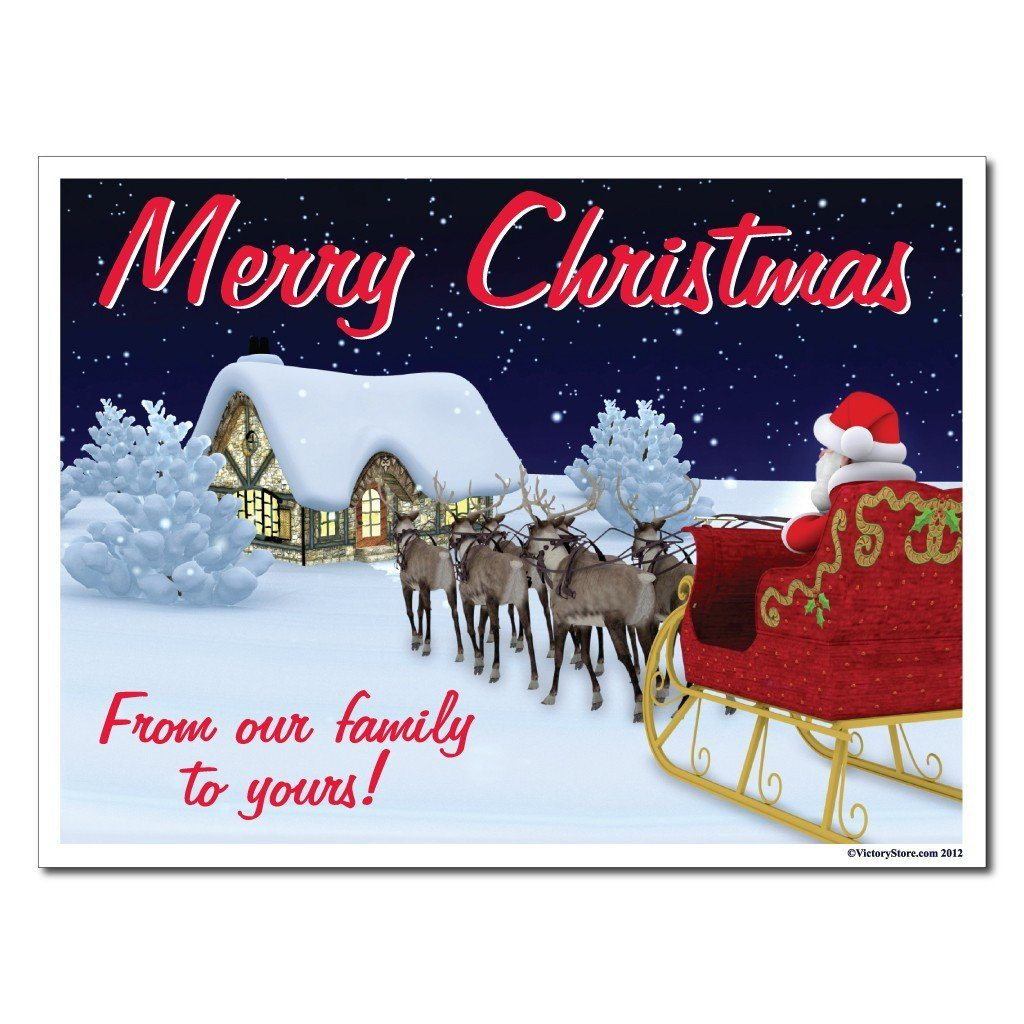 Merry Christmas From our Family to Yours Lawn Sign Display - FREE SHIPPING