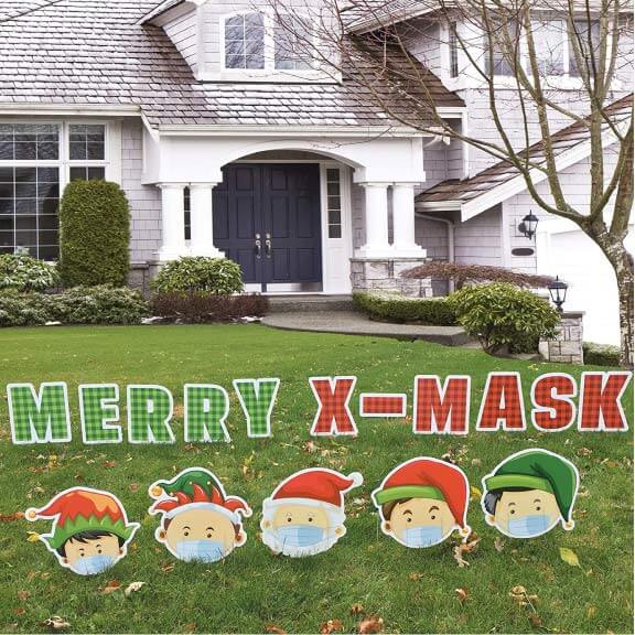 Christmas 2020 Merry X-mask yard sign decoration