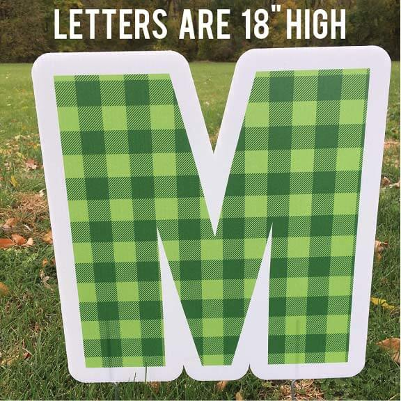 Merry Christmas X-Mask Yard Sign Letters
