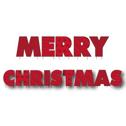 Merry Christmas Yard Letters - FREE SHIPPING