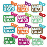 A 2D template for Mardi Gras pathway markers