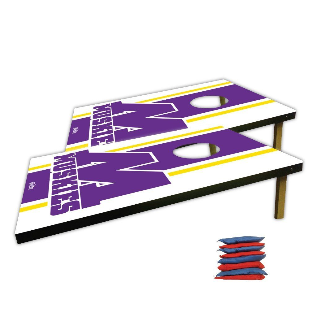 Muscatine High School Block M Logo Bag Toss Game