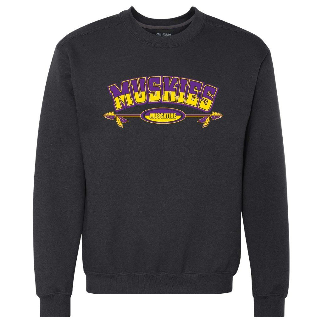 Muscatine High School Muskies Crewneck Sweatshirt