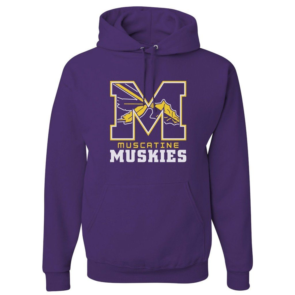 Muscatine High School Muskies Block M Hooded Sweatshirt