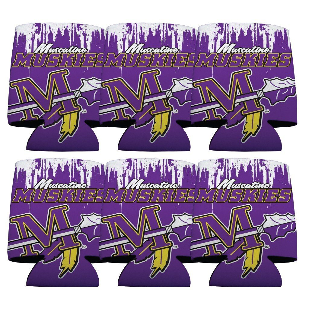 Muscatine High School Muskies Grunge Koozie set of 6