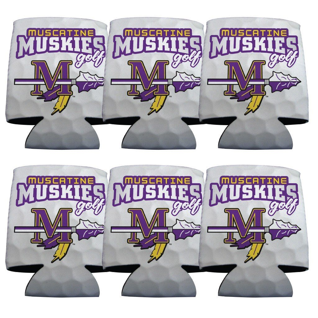 Muscatine High School Golf Koozie set of 6