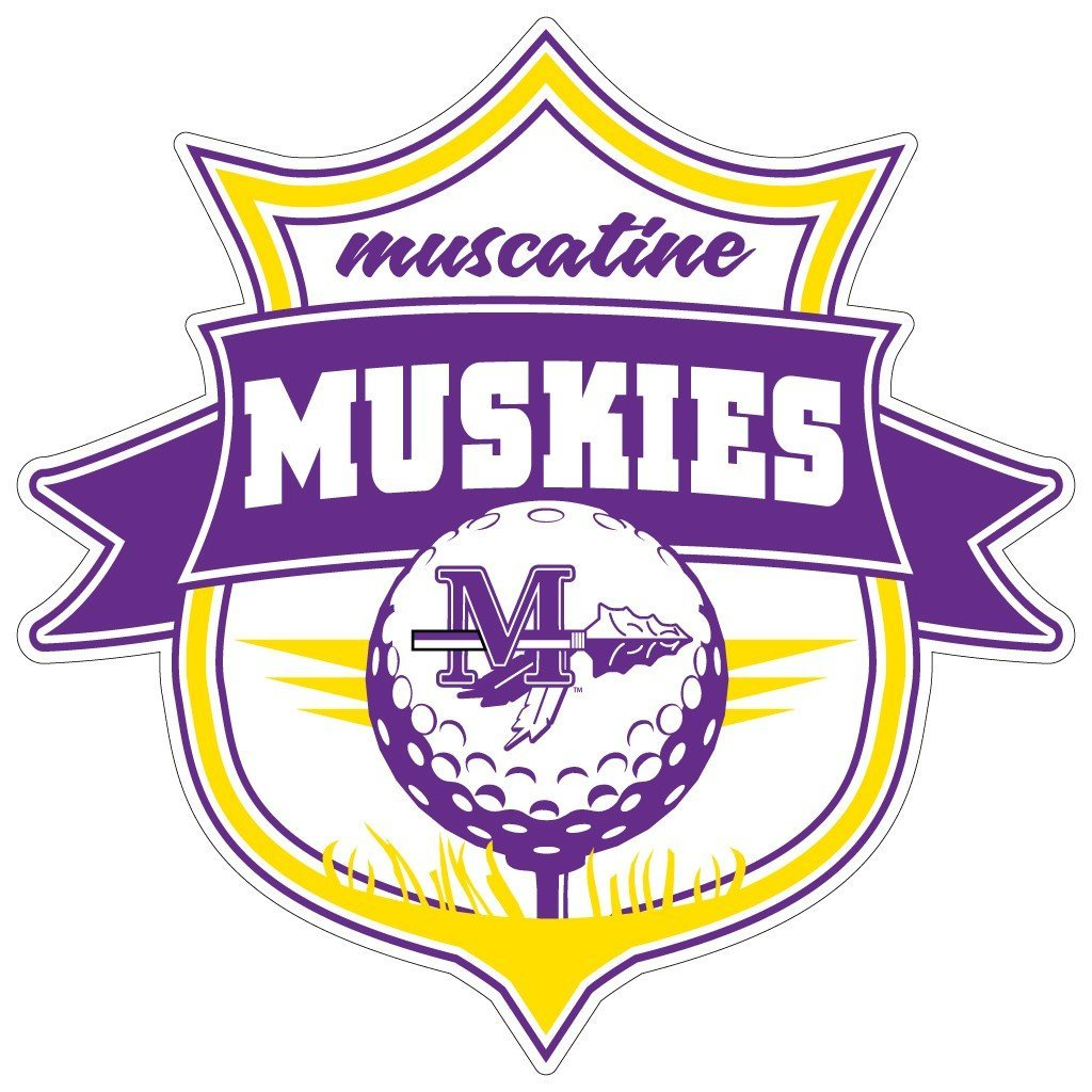"Muscatine High School Muskies Golf 7"" Shaped Magnet"