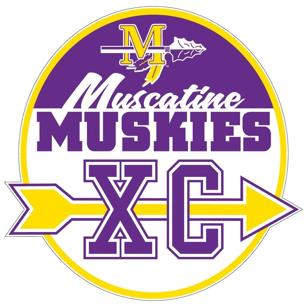 "Muscatine High School Muskies Cross Country 7"" Shaped Magnet"