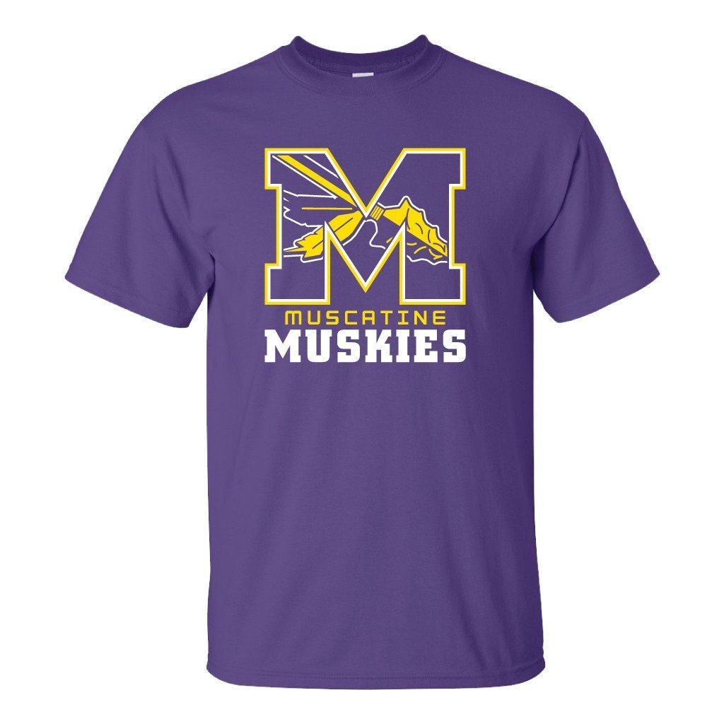 Muscatine High School Muskies Block M T-Shirt