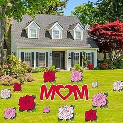 Happy Mother's Day Yard Decoration - Mom, Roses decoration - FREE SHIPPING