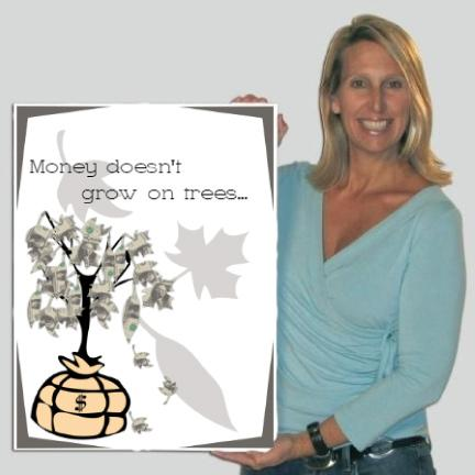 Money Tree Greeting Card - Standard Design