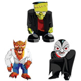 Halloween Yard Decoration Frankenstein, Werewolf, and Dracula Stand Up