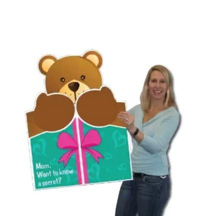 A large bear themed greeting card